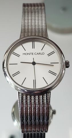 803d2b0df88 Relógio Monte Carlo Prata Original Importado - Bijouterias