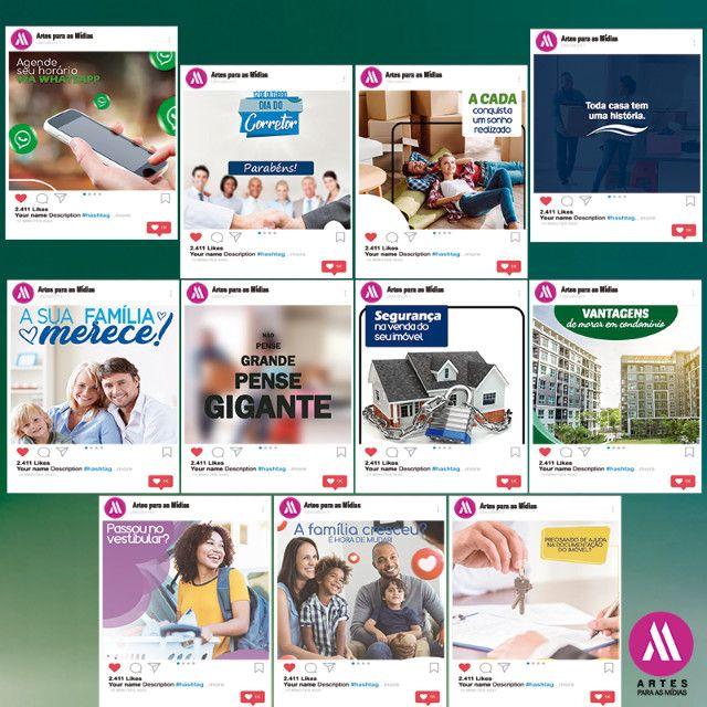 Pacote Artes Redes Sociais - Para Corretores de Imóveis e Imobiliárias - Foto 2