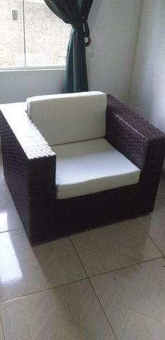 Poltrona Fibra Sintética Varanda Vime Cadeira + Mesa de Centro - Super Promoção!! - Foto 3