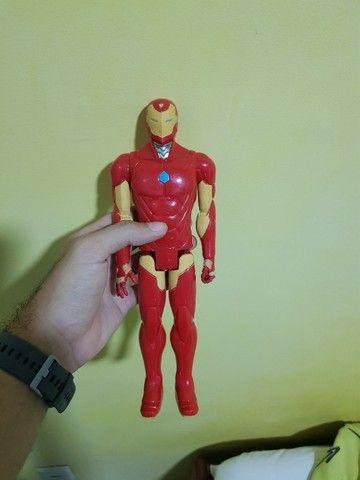 Kit/lote 3 bonecos de 30cm - Iron Man e 2 Max steel - Foto 6