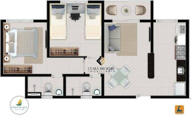 Apartamento no Eusébio com 2 dormitórios à venda, 49 m² por R$ 169.735 - Eusébio - Eusébio - Foto 12