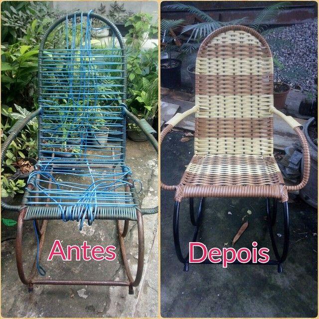 Cadeira de fibra ( reforma ) - Foto 5