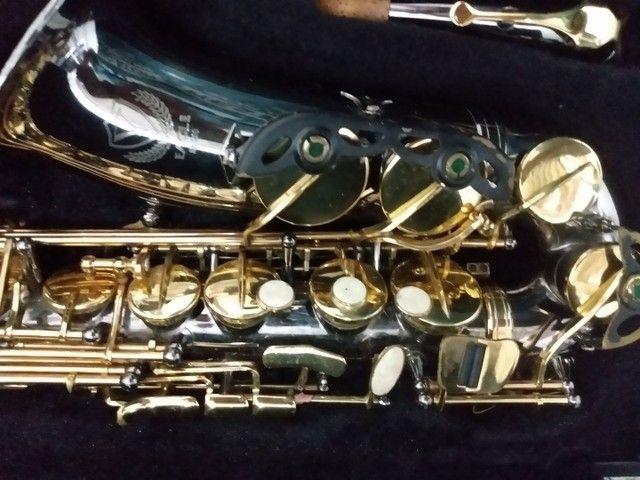 Sax alto Black nikel semi novo