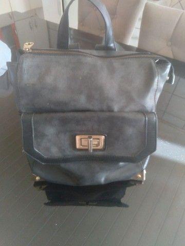 2 bolsas=Bolsa saco+Mochila bolsa WJ original, preto fosco com detalhes em dourado.   - Foto 3