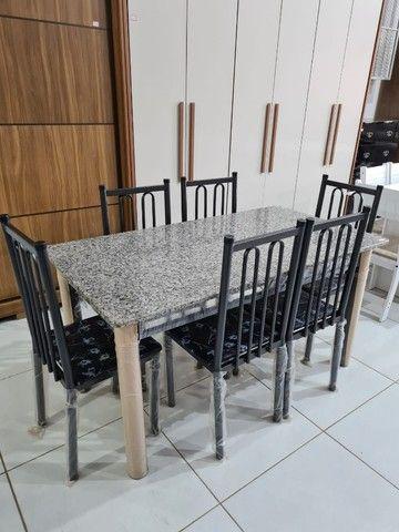 Mesa Com 6 Cadeiras Madri  - Foto 4