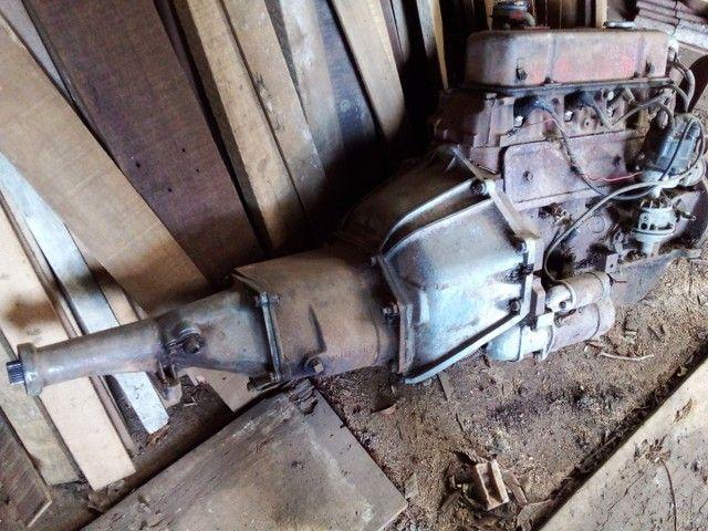Motor e caixa Opala 4cc .
