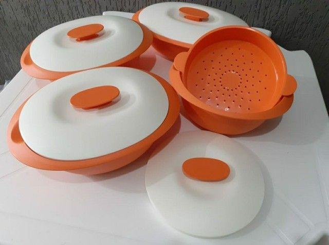 Conjunto de travessas Tupperware