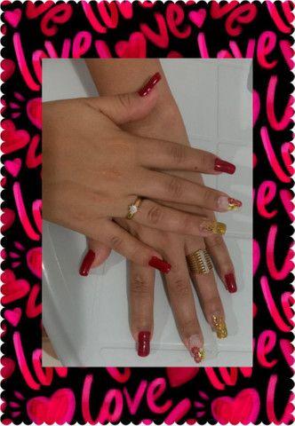 Alongamento em gel, manicure e pedicure. - Foto 2