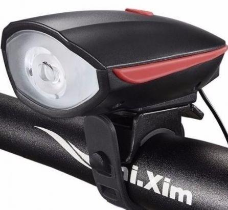 Farol Lanterna Com Buzina - Pilhas - 3 Níveis de Luminosidade - Foto 3