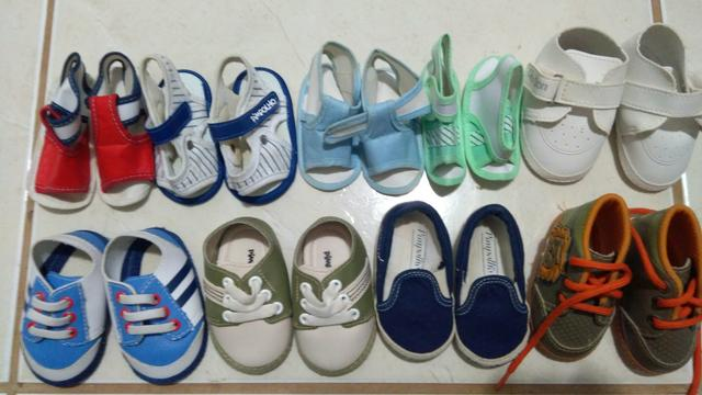 Lote calçados para bebês (R$ 60,00)