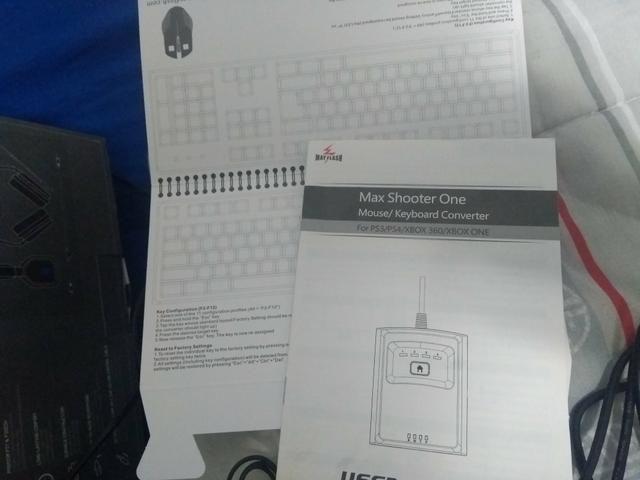 MaxShooter One , adaptador de mouse e teclado