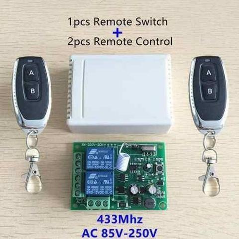 Receptor Controle Remoto Interruptor Ac 250 V 110 V 220 V 2ch Relé