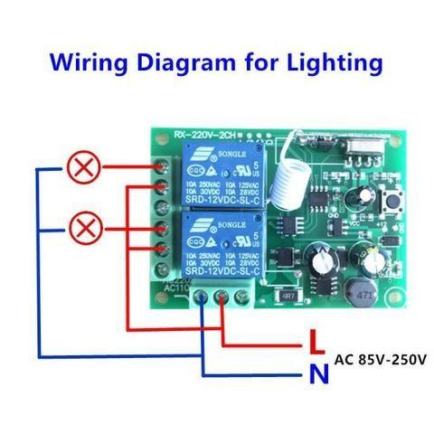 Receptor Controle Remoto Interruptor Ac 250 V 110 V 220 V 2ch Relé - Foto 6