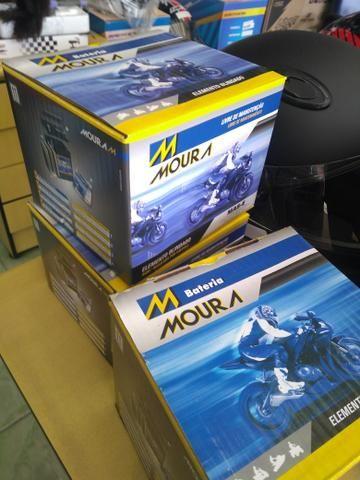 bateria moura mv12-e cb400 cb450 cb500 four entrega todo rio