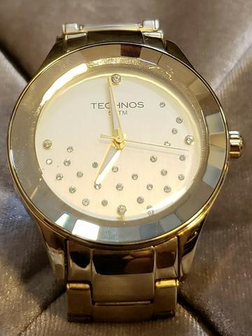 77e6eee8c13 Relógio Technos Swarovski Elegance Dourado Original - Bijouterias ...