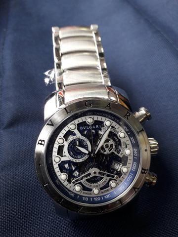 cb0ee41b54c Relógio Bvlgari Prata Iron Man - Bijouterias