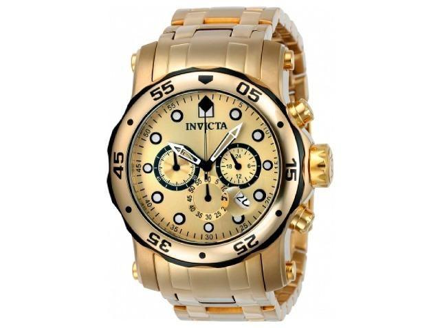 fb3c8d1f255 Relógio Invicta 23670 Ouro 18K Troca Pulseira Original em 12X 01 Ano  Garantia