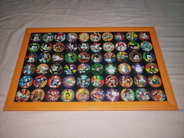 Coleção de Tazos Animaniacs Completa e Emoldurada