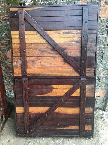 Portão e janela de madeira  - Foto 3
