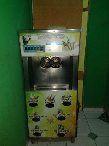 Máquina de sorvete italiano com liquidificador industrial