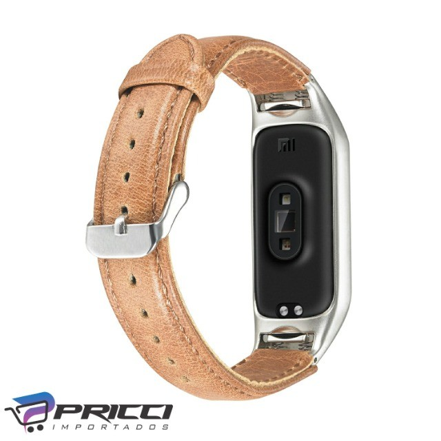 pulseira em couro para Miband 5 e Miband 6 - novas - Foto 3