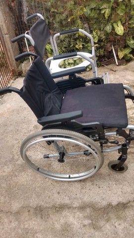 Cadeira De Rodas Ottobock + Cadeira De Banho - Foto 4
