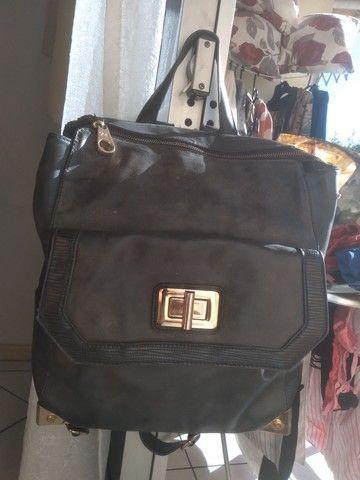 2 bolsas=Bolsa saco+Mochila bolsa WJ original, preto fosco com detalhes em dourado.