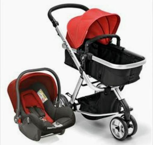 Carrinho Moisés + Bebê conforto c/ base isofix Fischer Price