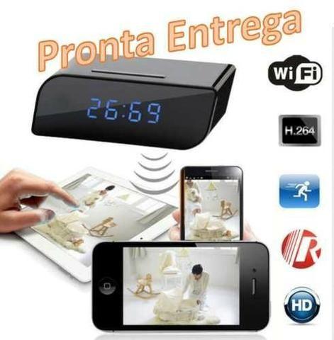 c6235c1be99 Relógio Espião Com Câmera Hd Wifi 1080p Alarme Sd Card Visao noturna ...