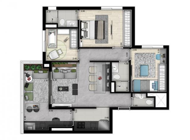 Elegante Apartamento em Vila Pompéia, com 3 dormitórios, sendo 1 suíte e área de 142 m² - Foto 15