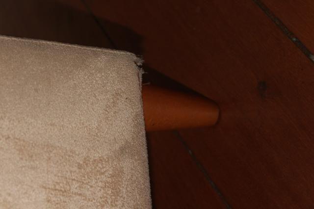 Sofá Cama em Tecido Bege 83cm x 206cm x 73cm - Foto 7