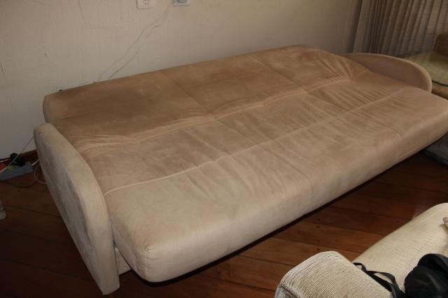 Sofá Cama em Tecido Bege 83cm x 206cm x 73cm - Foto 11