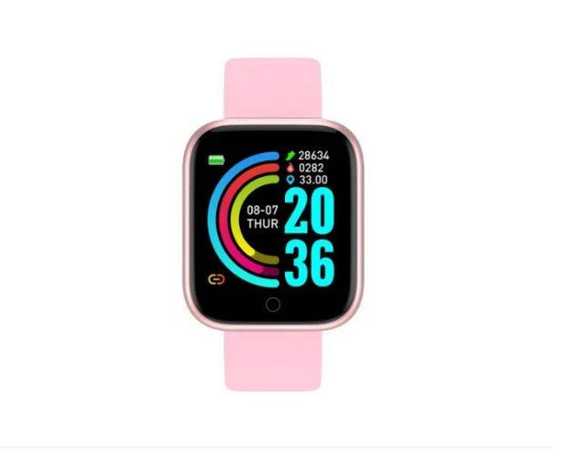 Relógio digital inteligente Rosa