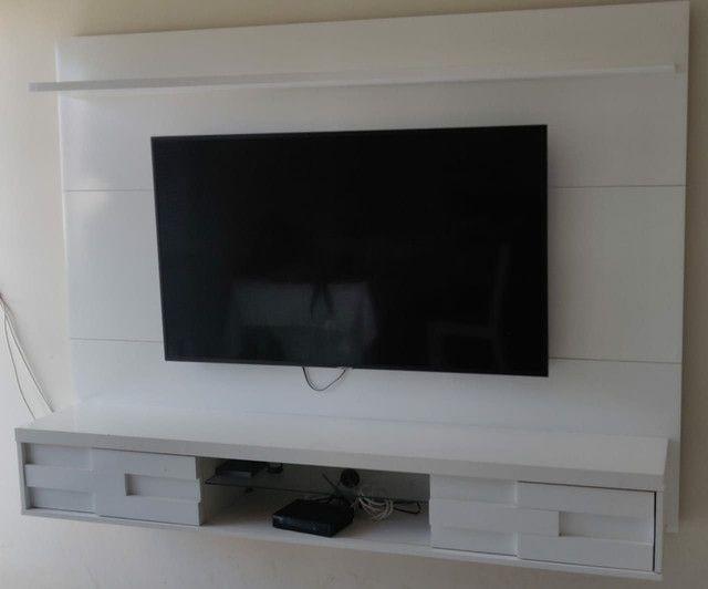 Vendo Painel de TV branco (até 55') - Foto 2