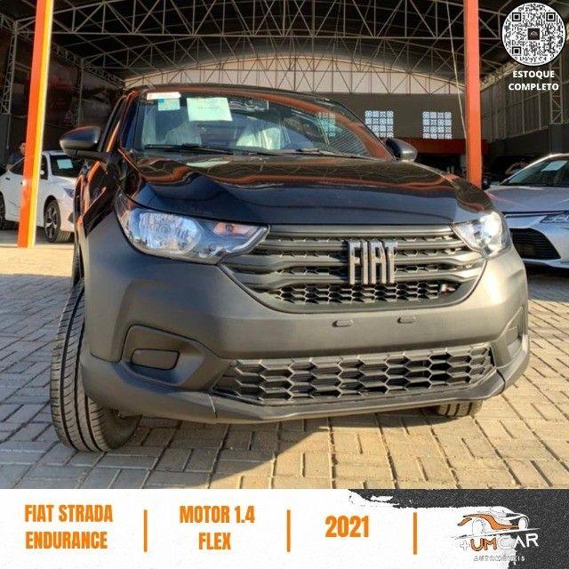 Fiat Strada 2021 - Endurance - 1.4 Flex - Preta - Pronta Entrega