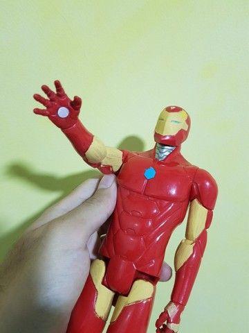 Kit/lote 3 bonecos de 30cm - Iron Man e 2 Max steel - Foto 4