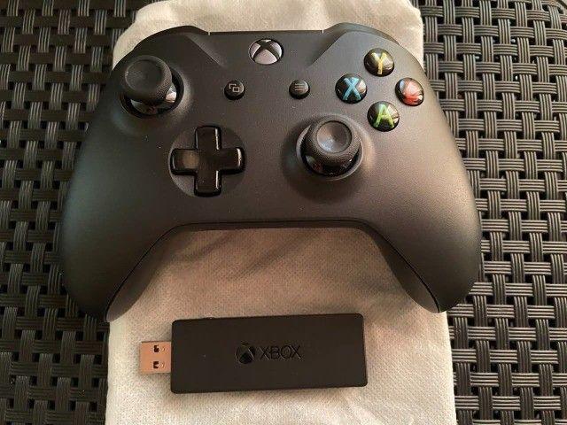 Controle Xbox One + Adaptador para PC