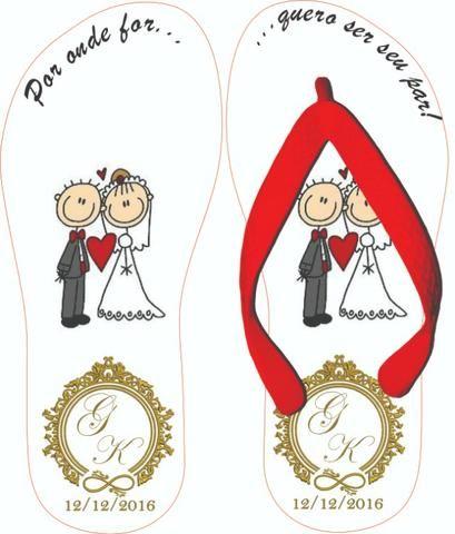 Chinelos Personalizados Casamentos e Formaturas - Foto 5