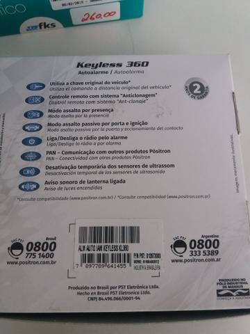 Alarme positron keyless 360 nova na embalagem garantia instalado - Foto 3