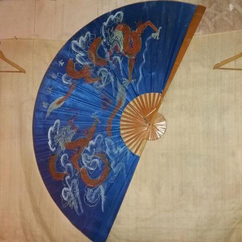 Leque oriental.lindo.dagroes chinezes maguinificos.para.embeleza.seu quarto