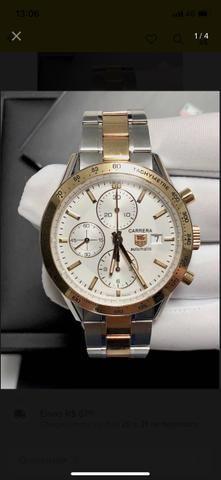 f15d023f5dc Relógio Tag Heuer carrera de aço e ouro - Bijouterias