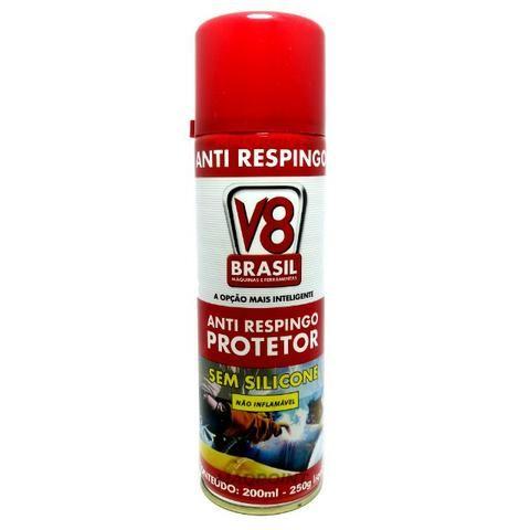 Anti Respingo em Spray Aerossol Sem Silicone - 200mL - V8 Brasil