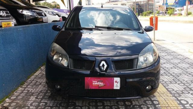 Renault Sandero Privilege 1.6 completa Azul 2009 flex