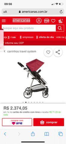 Vendo carrinho de bebê semi novo  - Foto 4