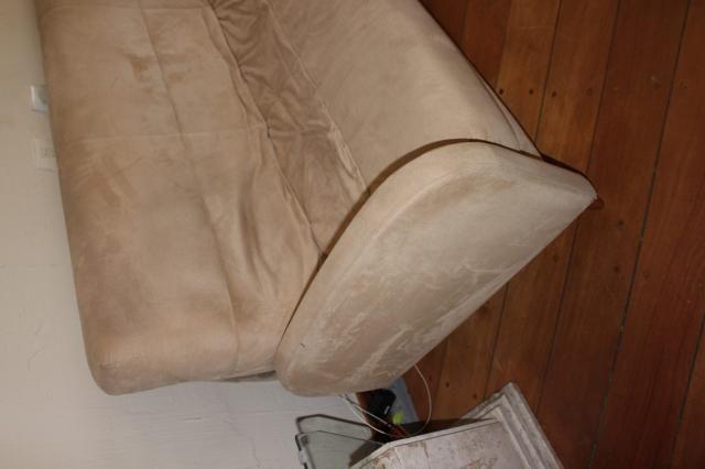 Sofá Cama em Tecido Bege 83cm x 206cm x 73cm - Foto 5