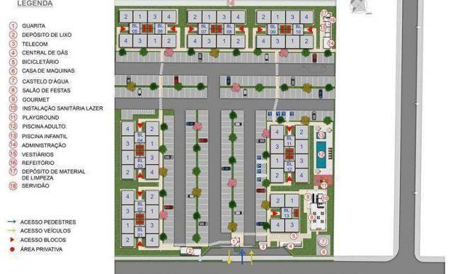 Parque Ayala - Apartamento de 2 dorms em Arapongas, PR - ID4073 - Foto 8