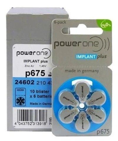 60 Pilhas Powerone Implant Plus  P675 Original Validade 2024