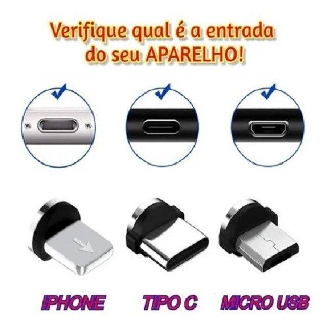 "Cabo Led Magnético Carregador ""Iphone""  - Foto 4"