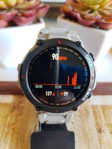 Relógio smartwatch Lemfo K22 recebe e faz chamadas novo - Foto 4