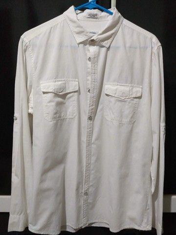 Camisa Calvin Klein - Tamanho M Off-White - Foto 2